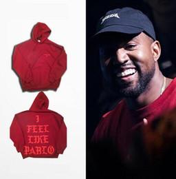 C4 Hip Hop Hoodies I Feel Like Pablo Hoody Kanye West Hooded Sweatshirts Men 2016 Lovers Streetwear Red S-3XL Presale