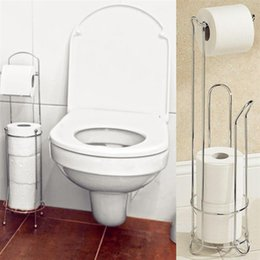 Wholesale 2016 New DecoBros Toilet Tissue Paper Roll Holder Stand Plus Durable Stainless Steel Toilet Paper Holder Stand