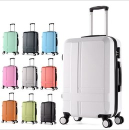 Wholesale 20 quot Frosted carry ons Hardside Luggages solid trolley travel bags case suitcase universal wheel rolling luggage valise cabine
