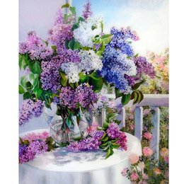 Wholesale HWC D Diamond Mosaic Dining Table Vase Diy Diamond Painting home decor Diamond embroidery wall sticker gift X50CM