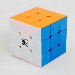 Descuento dayan juguete Dayan Zhanchi V5 55 mm de tres capas 3x3x3 velocidad cubo mágico juego de rompecabezas Cubos juguetes educativos para niños Niños