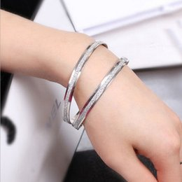 Fashion Double Circle Matte Indian Bangles 2016 New gold plated or Silver Plated bracelets Wedding Gift Indian Jewelry Valentine's Day Gift