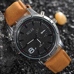 Reloj del ejército suizo deporte militar en Línea-Banda de cuero del análogo de cuarzo ocasional del deporte al aire libre relojes de pulsera famosa Miler Marca Swiss Army Relojes Militar reloj del negocio de la moda para los hombres