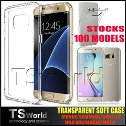 Wholesale 0 mm TPU For Samsung note J5 A3 A5 S7 S7 edge Iphone plus s Crystal Gel Case Ultra Thin transparent Soft TPU jelly clear silicon