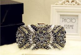 Handmade Women's Girl Pearl Rhinestone Sequin clutch bags chain handbag purse evening bag banquet Bags