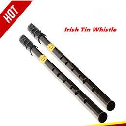 Wholesale Tin Whistle Irish Whistle Flute Feadog D Key Irish Penny Whistle Holes Feadan Whistle Clarinet Flute Flauta Musical Instrument