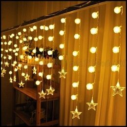 Wholesale 3 M SMD Edelweiss Snowball Star LED String Curtain Lights Holiday Xmas Decor LLWA222