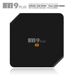 Wholesale Best Android TV Box M9 Plus Amlogic S905 M8s WiFi Set Top Box G G Build in Bluetooth KODI XBMC Internet TV Boxes