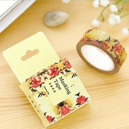 10M  Japan Camellia series paper Masking Tape DIY FUNNY adhesive tape scrapbooking tools stickers Stationery Wholesale