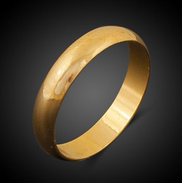 Wholesale Cheap Real Jewelry For Women - Hip Hop Men's Rings Jewelry 18K Real Gold Vacuum Plating Finger Ring for Men Women Cheap Price
