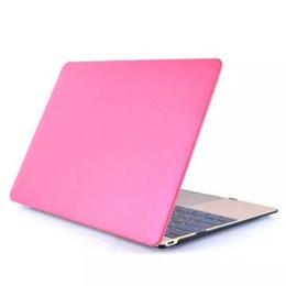 Promotion macbook shell 13 PU Leather Skin + étui en plastique Coque de protection pour Macbook Air Pro Retina 11 12 13 15 pouces Protection Cas 2016 Nouveau style