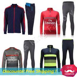 Wholesale Training Jacket Men sport wear Training Soccer shirts Alexis Ozil Walcott Gunners Soccer jackets