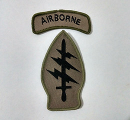 US Army Airborne SSI, Special Forces Tab Command Sew On Patch Shirt Trousers Vest Coat Skirt Bag Kids Gift Baby Decoration