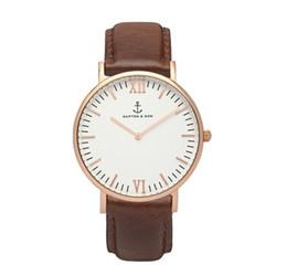 Wholesale 2016 KAPTEN SON Quartz Brand Lady Watches Women Luxury Rose Gold Antique Square Leather Dress Wrist watch Relogio Feminino Montre