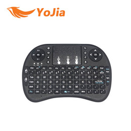 Wholesale 50pcs Rii I8 Mini Keyboard Air Mouse G Wireless Rechargeable lithium ion battery Remote Control for all android TV BOX M8S plus