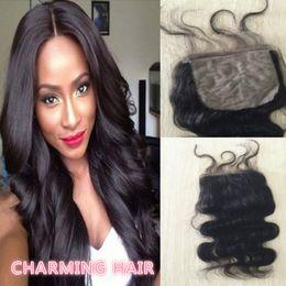 Peruvian Silk Base Closure Body Wave Peruvian Hair Cheap Silk Base Closures Hidden Knots Silk Base Lace Closure