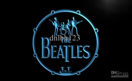 Wholesale LF013 TM The Beatles Band Music Drums Neon Light Signs Advertising led panel Whole