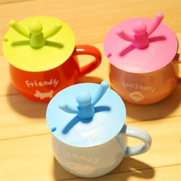 Wholesale-Multifunction Dustproof Leakproof Cup Lid Insulation Cover Candy Colors Reusable Silicone Cup Cover Seal Floor Drain Cover D0