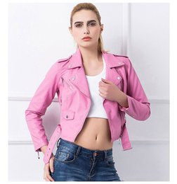 Wholesale Cheap Leather Shorts Women - Fashion New Style Short Women Lady Leather Jacket Outerwear Coats PU Korean Cheap Slim Fashion Jackets S-XL 4 Size Coat