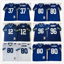 Wholesale Throwback Seattle FAN Shaun Alexander Steve Largent Cortez Kennedy Retro Home Away Stitched Vintage Football Jerseys
