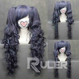 Wholesale peruvian glueless full lace human hair wigs lace front wigs for gt gt gt new cmX Long ASH Ciel Phantomhive Anime Cosplay wig Clip On Ponytail