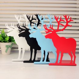 Wholesale 2pcs creative personality books by bookshelf Student Gifts Big Ben Tower Bridge iron bookends books reindeer Iron