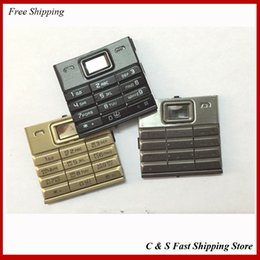 Wholesale Original black gray gold for nokia sirocco English Russian Key Keypad Keyboard Buttons Trackpad Flex Cable