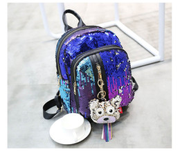 Glitter Backpack Women Sequin Backpacks For Teenage Girls Bling Rucksack Fashion Cute Pendant School Bag Sequins mochila 17915007