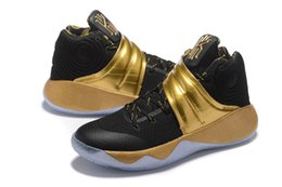 Wholesale 2016 New ship Kyrie Drew League Blakc Gold Men Basketball Shoes Kyrie Irving USA th of July Cheap Sneakers For Sale