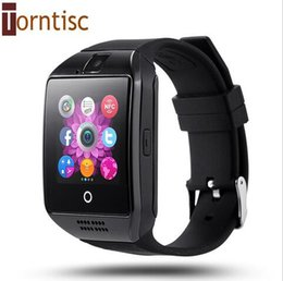 Wholesale New NFC Smart Watch Q18 Arc Clock With Sim Card Bluetooth Connection for iphone Android Phone Smartwatch