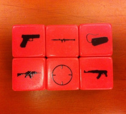 Special Gun System 6 Sided Dice Pistol Machine Gun AK47 Submachine Toy Dice Funny Accessories Good Price High Quality #S17