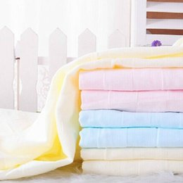 Wholesale New Top Quality Baby Solid Color Bath Towel Bamboo Anti bacterial Breathable Cute Child Baby Soft Towel