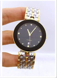 Ms. golden fashion new high-quality stainless steel between men and women couple fashion waterproof quartz watch