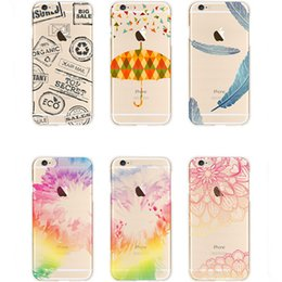 Wholesale Painting Colorful Peony Flower Cute Beauty Sika Dandelion Pattern Soft TPU Phone Case For iPhone S plus inch Free Ship MOQ