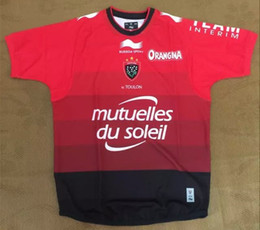 Wholesale Rugby Union France Toulon rugby jersey High temperature heat transfer printing jersey Rugby Shirts