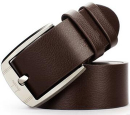 Wholesale Lady Jeans Belt - 10 design Men's fashion ladies casual wide belt Trend Fashion Male Jeans Perfect Match Pin Buckle Genuine Leather Strap All-Match Belt