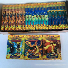 Poke Trading Card Games Newest Edition XY Anime Monsters Pikachu Cards board games Card Toys for Children Kids Free shipping E1243