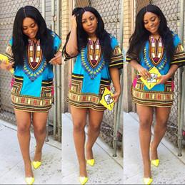 Wholesale-FASHION DRESS AFRICAN DASHIKI SHIRT KAFTAN BOHO HIPPIE GYPSY FESTIVAL TOP Wholesale