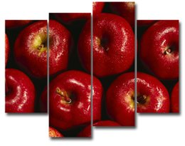 Wholesale LK4219 Panle Pictures Of Fresh Red Apple Fruit Paintings The Picture For Home Resturant Kitchen Decoration City Pictures Photo Prints On