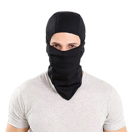 Balaclava Windproof Ski Face Mask Bicycle Motorcycle Cycling Winter Hat Face Mask for Men and Women Outdoors Warmers Black