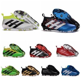 Wholesale ACE Soccer Cleats For Men PureControl Primeknit FG Football Soccer Shoes New Mens Soccer Boots Cheap Ankle Football Boots High Top