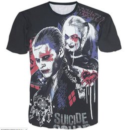 2016 3D Suicide Squad Graphic men t shirts Crew neck tees polos Suicide Squad KillerInspired The Joker Mens Top Men's T-Shirt