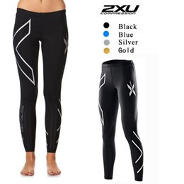 Wholesale 2XU Women Men Compression Fitness Tights Pants Leggings Jogging Superelastic Stretch Pants Marathon Breathable Outdoor Sports Trousers