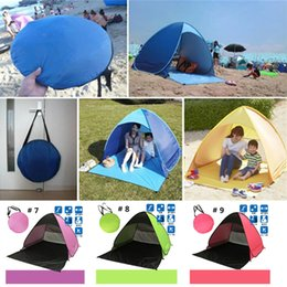 Wholesale Hottest Sale Hiking Tents Outdoors Camping Shelters UV Protection Tent for Beach Travel Lawn Home Tent Colorful DHL Fedex