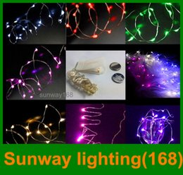 Wholesale DHL Battery operated M LEDS led fairy string light Copper Wire led string holiday light decorations colorful beautiful