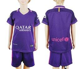 Wholesale Kids kits Barcelona jerseys home Away Thai quality Messi Suarez kids boys child best gift soccer jerseys youth best football shirt