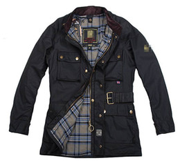 Descuento chaquetas de los hombres de cera Chaquetas de calidad superior del roadmaster del hombre de BSF el hombre roadmaster libre del envío enceró la chaqueta de algodón