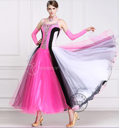 colorful customize ballroom Waltz tango salsa Quick step competition dress one shoulder cutout