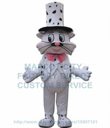 Wholesale Mr cat mascot costume factory direct adult size two tails white cat man anime cosply costumes carnival fancy dress