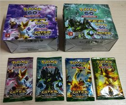 Wholesale DHL Poke Trading Cards Games Break Point English Edition Styles Anime Pocket Monsters Cards Toys